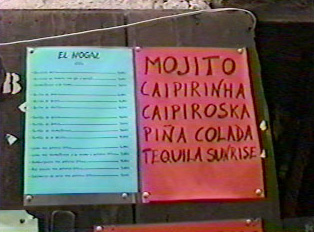 A beverage menu