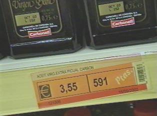 Price in Euros and Pesetas
