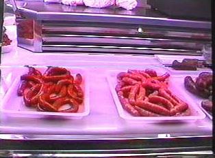 Various types of sausage