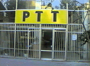The yellow PTT indicates the post office