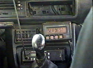 Fare meter inside the taxi