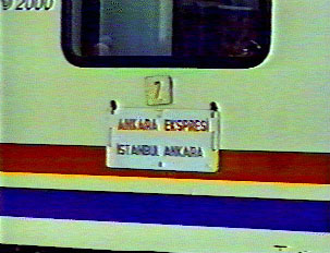 Express train from Istanbul to Ankara