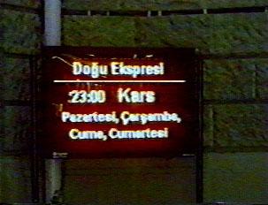 Express trains schedule