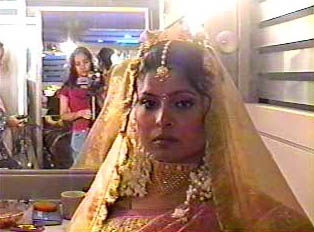 A bride in traditional dress
