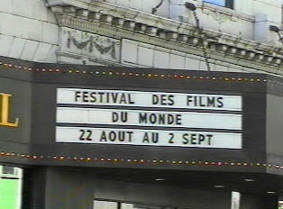 A film festival sign