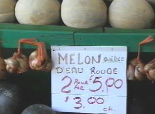 A melon stand
