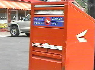 A Canada Post mailbox