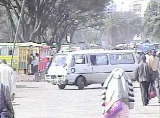 A white bus
