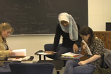a language mentor helping students